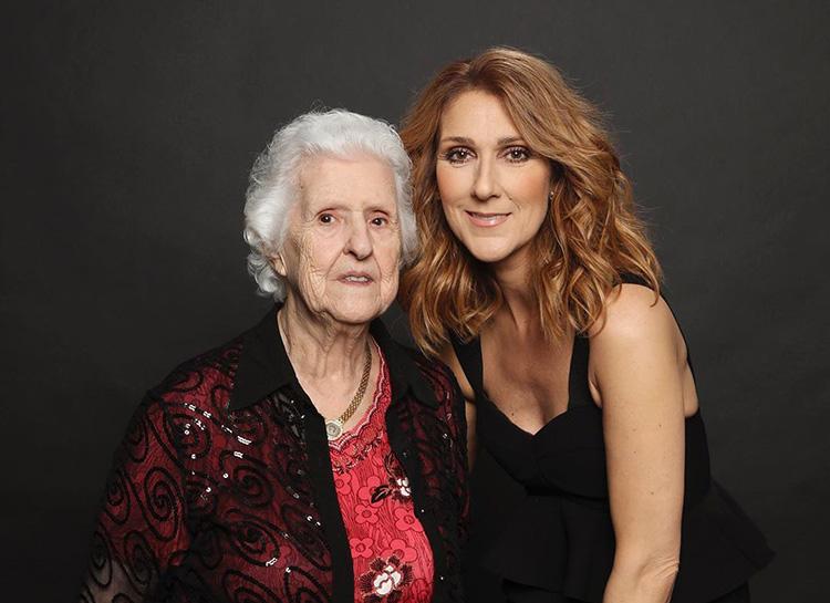 Селин Дион с майка си